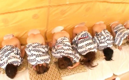 Crazy japanese orgy